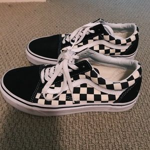 Checkered LaceUp Vans
